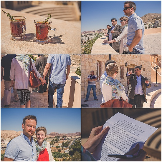 English couple meet the Petra faculty of tourism and archeaology