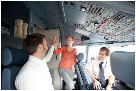 High 5 with Air Tahiti Nui's pilots