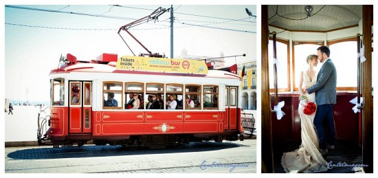 The beautiful vintage tram