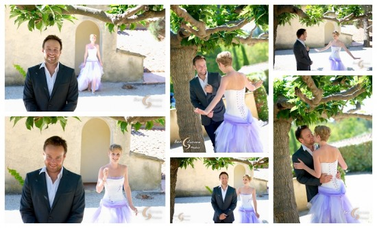 The first look at a wedding in Aix en Provence