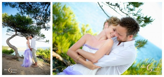 The beach in time for sun set wedding in Aix-en-Provence