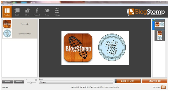 Blogstomp interface review