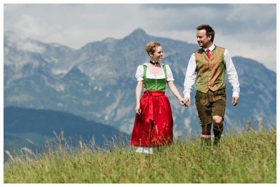 The hills are alive at a wedding in Sankt Johan, Austria