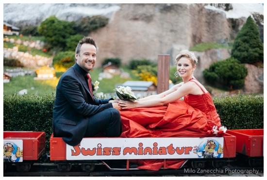 Yes, it is a miniature train...yes, we felt a little bit silly!