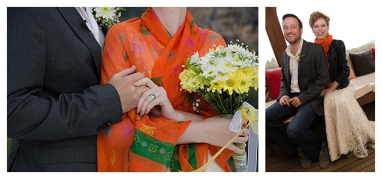 A couple hold hands at a wedding in dalaman