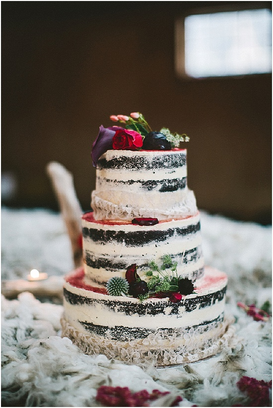 A cake from a wedding in Queenstown New Zealand