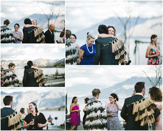 guest hug at a wedding in Queenstown New Zealand