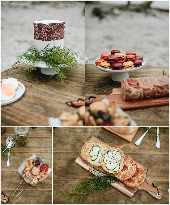 platters of wedding picnic food