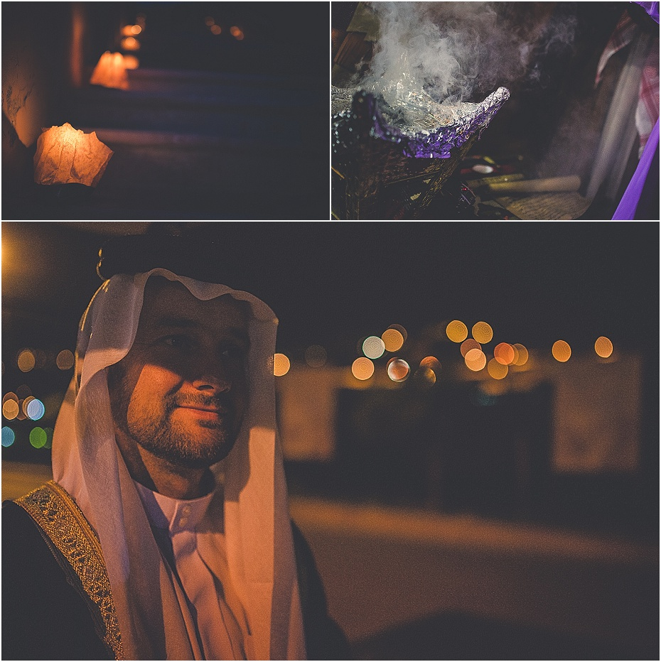 the incense from the blessing smokes, candles flicker along the path to Al Khazneh