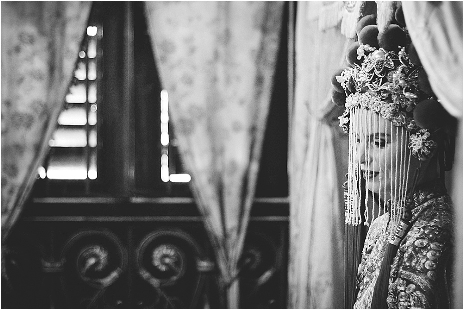 Bride awaits her groom for their wedding in Malaysia