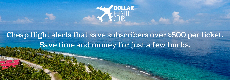 Get 50% Off your Dollar Flight Club subscription